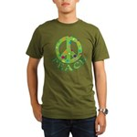 Polka Dots Peace Organic Men's T-Shirt (dark)