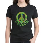 Polka Dots Peace Women's Dark T-Shirt