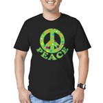 Polka Dots Peace Men's Fitted T-Shirt (dark)