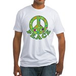 Polka Dots Peace Fitted T-Shirt