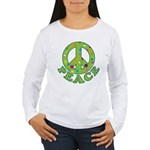 Polka Dots Peace Women's Long Sleeve T-Shirt