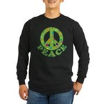 Polka Dots Peace Long Sleeve Dark T-Shirt