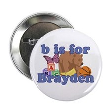 "B is for Brayden 2.25"" Button (10 pack)"