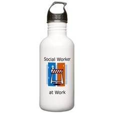 Social Worker at Work Water Bottle