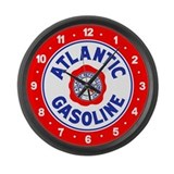 Atlantic Gasoline Large Wall Clock