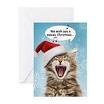 Singing Cat Christmas Cards (Pk of 10)