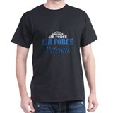Air Force Veteran Black T-Shirt