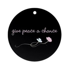 Peace Blossoms Ornament (Round)