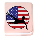 US Women's Soccer baby blanket