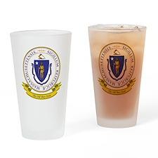 Massachusetts Seal Drinking Glass
