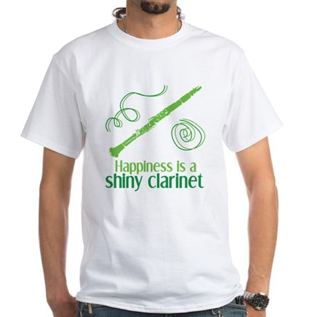 Shiny Clarinet White T-Shirt