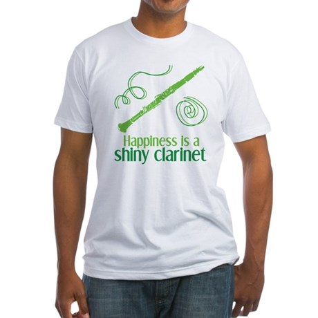 Shiny Clarinet Fitted T-Shirt