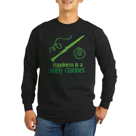 Shiny Clarinet Long Sleeve Dark T-Shirt