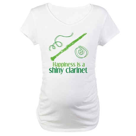 Shiny Clarinet Maternity T-Shirt