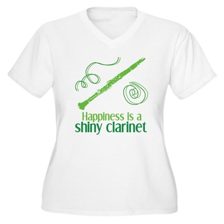 Shiny Clarinet Women's Plus Size V-Neck T-Shirt