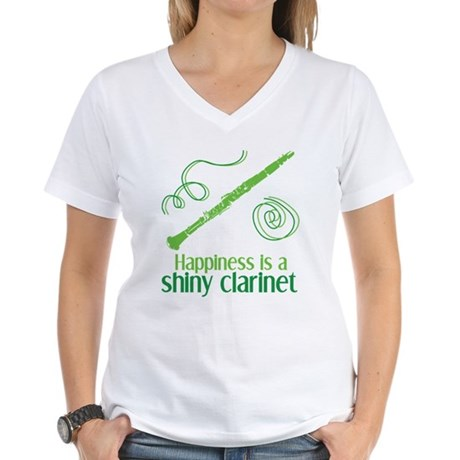 Shiny Clarinet Women's V-Neck T-Shirt