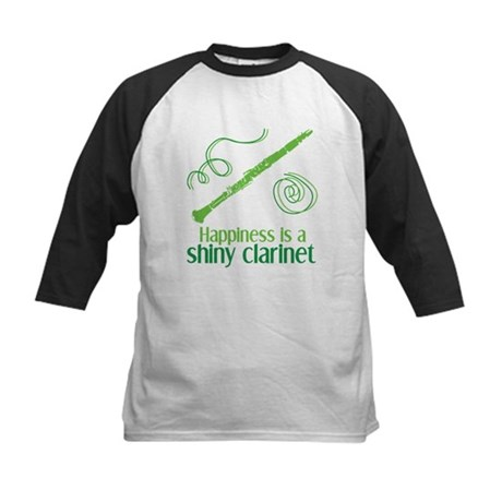 Shiny Clarinet Kids Baseball Jersey