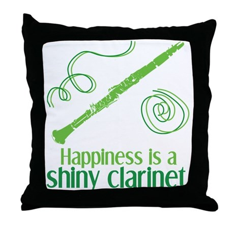 Shiny Clarinet Throw Pillow