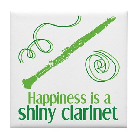 Shiny Clarinet Tile Coaster