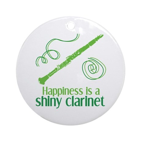Shiny Clarinet Ornament (Round)