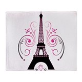 Eiffel Tower Swirl Design Throw Blanket