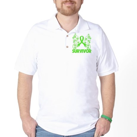 Muscular Dystrophy Butterfly Golf Shirt