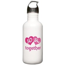 50th Anniversary Hearts Water Bottle