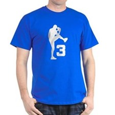 Baseball Pitcher Number 3 T-Shirt