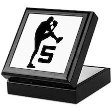 Baseball Pitcher Number 5 Keepsake Box