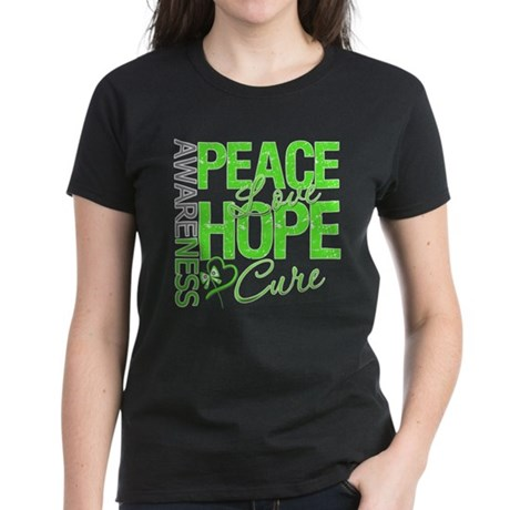 Muscular Dystrophy PeaceLoveHope Women's Dark T-Sh