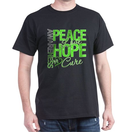 Muscular Dystrophy PeaceLoveHope Dark T-Shirt