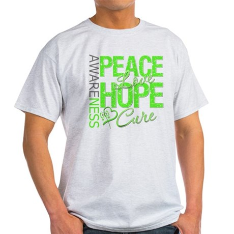 Muscular Dystrophy PeaceLoveHope Light T-Shirt
