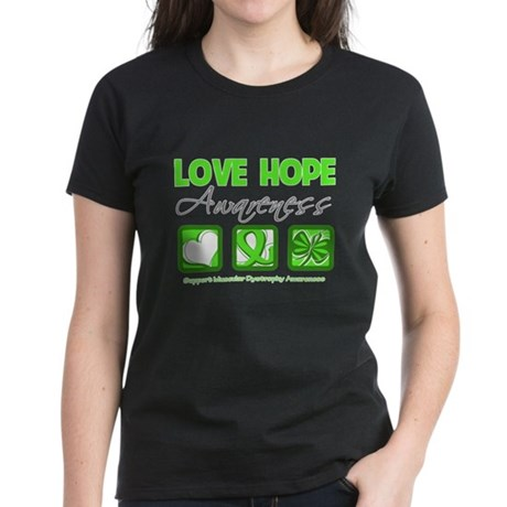 Muscular Dystrophy Love Hope Women's Dark T-Shirt