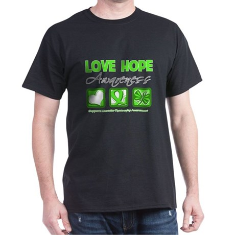 Muscular Dystrophy Love Hope Dark T-Shirt