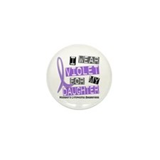 I Wear Violet 37 Hodgkin's Lymphoma Mini Button (1