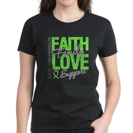 MD Faith Family Love Women's Dark T-Shirt