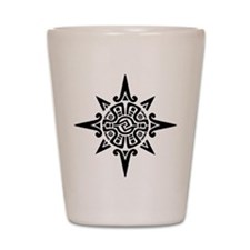 8-Point Incan Star Symbol Shot Glass
