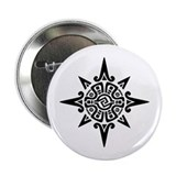 8-Point Incan Star Symbol 2.25&quot; Button