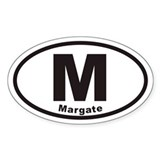 M Margate New Jersey Euro Oval Decal