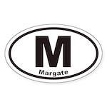 M Margate New Jersey Euro Oval Sticker
