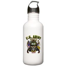 US Army MP Skull Military Pol Water Bottle