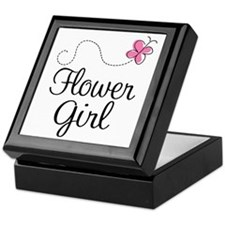 Flower Girl Wedding Keepsake Box