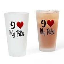 Heart My Pilot Home/Office Drinking Glass