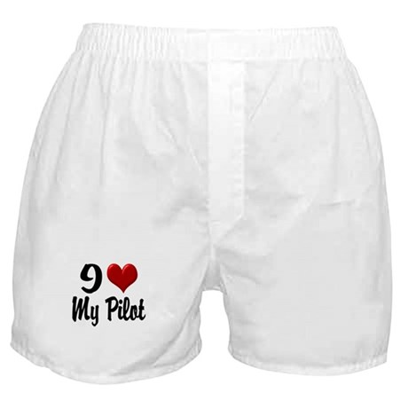 Heart My Pilot Apparel Boxer Shorts