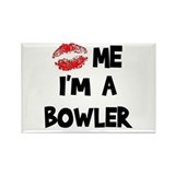 Kiss Me I'm A Bowler Rectangle Magnet (10 pack)