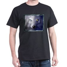 blue wolf, Black T-Shirt