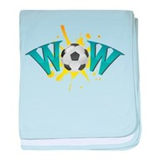 wow soccer baby blanket