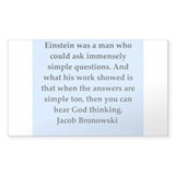 jacob bronowski quotes Decal