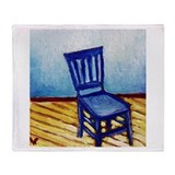 Blue Chair Throw Blanket