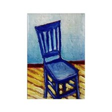 Blue Chair Rectangle Magnet